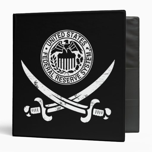 Federal Reserve Pirate Logo Binders