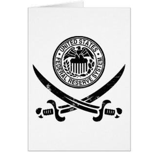 Federal Reserve Pirate Logo Greeting Card
