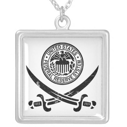 Federal Reserve Pirate Logo Necklaces