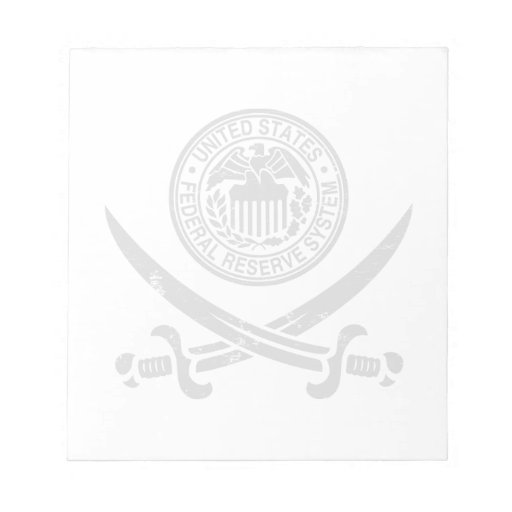 Federal Reserve Pirate Logo Note Pads