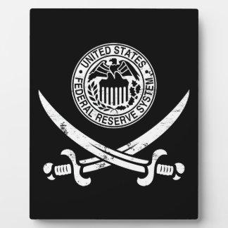 Federal Reserve piratea el logotipo Placas Con Foto