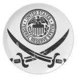 Federal Reserve piratea el logotipo Platos Para Fiestas