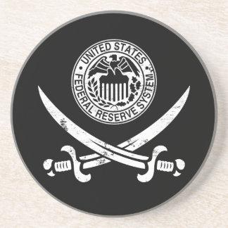 Federal Reserve piratea el logotipo Posavasos Para Bebidas