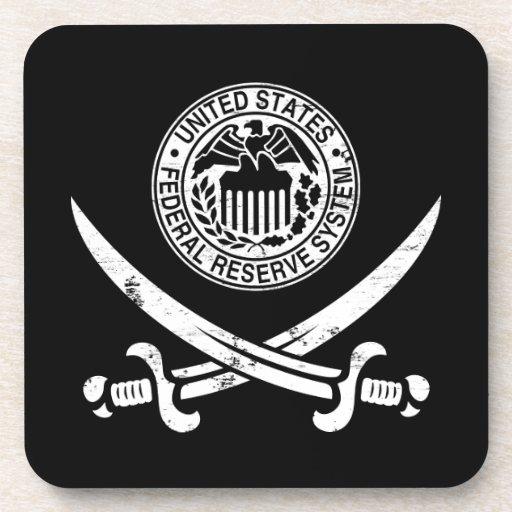 Federal Reserve piratea el logotipo Posavasos De Bebida