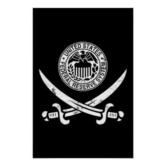 Federal Reserve piratea el logotipo Póster