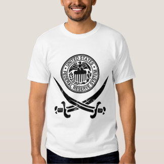 Federal Reserve piratea el logotipo Remeras