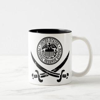 Federal Reserve piratea el logotipo Taza De Dos Tonos