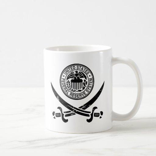 Federal Reserve piratea el logotipo Tazas