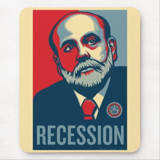 Federal Reserve preside a Ben Bernanke Mousepad Alfombrillas De Ratón