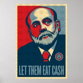 Federal Reserve preside la impresión de Ben Bernan Póster
