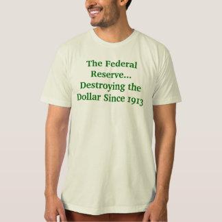 Federal Reserve que destruye el dólar Remera