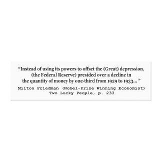 Federal Reserve y la Gran Depresión Impresión En Lona Estirada