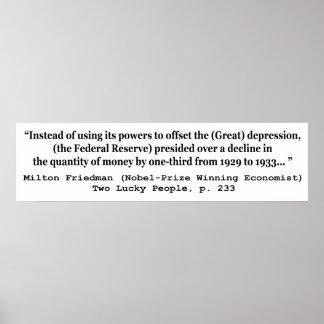 Federal Reserve y la Gran Depresión Poster