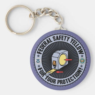 Federal Safety Yellow Keychain