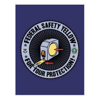 Federal Safety Yellow Postcard