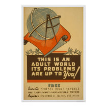 Federal Schools Free 1938 WPA Poster