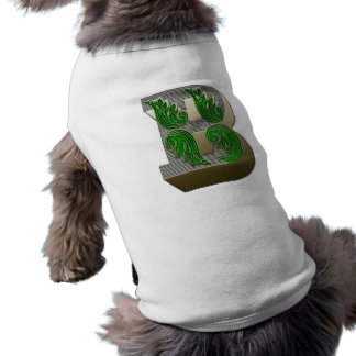 Federal Style Letter B Pet Clothes