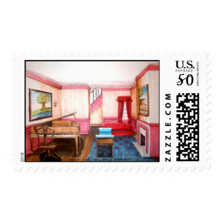 Federal Style Room Postage