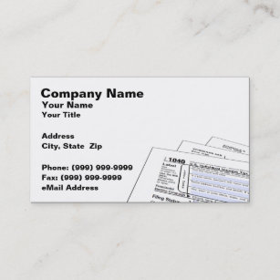 Federal Tax Forms Business Card