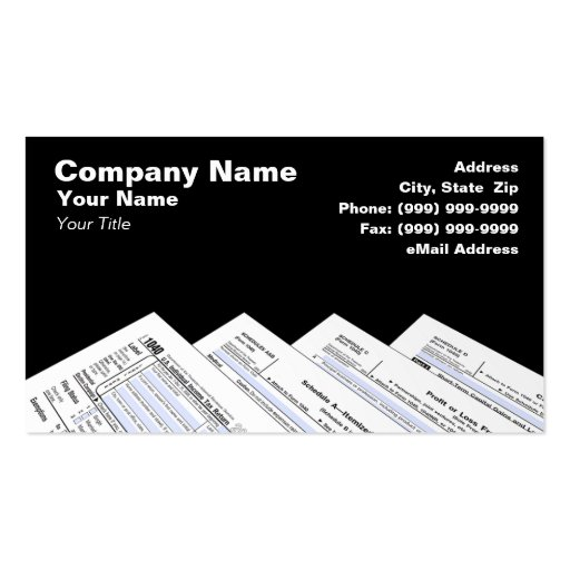 Income tax preparer business card templates bizcardstudio for Tax business cards