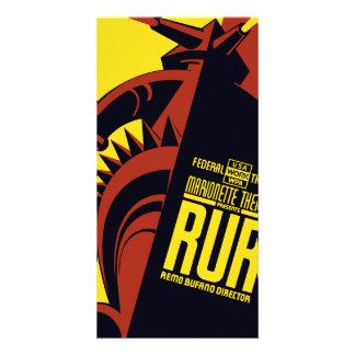 "Federal Theatre: Marionette Theatre presents ""RUR"" Card"