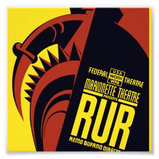 "Federal Theatre: Marionette Theatre presents ""RUR"" Photo Print"