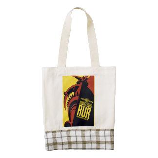 """Federal Theatre: Marionette Theatre presents """"RUR"""" Zazzle HEART Tote Bag"""