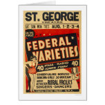 Federal Variety Acts 1937 WPA Card