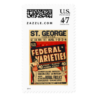 Federal Variety Acts 1937 WPA Postage