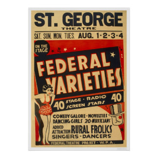 Federal Variety Acts 1937 WPA Posters