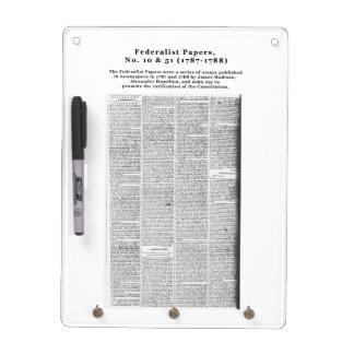 Federalist Papers, No. 10 & No. 51 (1787-1788) Dry Erase Board