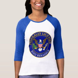 Ladies Raglan Fitted T-Shirt with Federally Licensed Bird Rehabber design