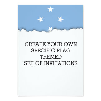 Federated StATES of Micronesia Flag Card