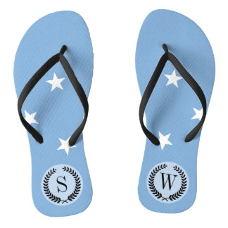 Federated StATES of Micronesia Flag Flip Flops