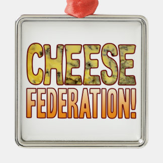 Federation Blue Cheese Metal Ornament