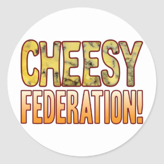 Federation Blue Cheesy Classic Round Sticker