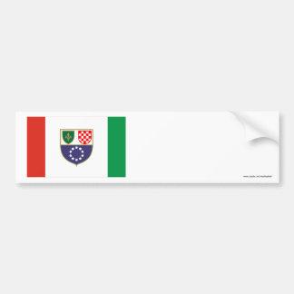 Federation of Bosnia & Herzegovina Flag Bumper Sticker
