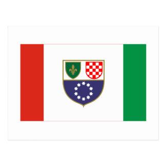 Federation of Bosnia & Herzegovina Flag Postcard