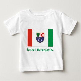 Federation of Bosnia & Herzegovina Flag with Name  Baby T-Shirt