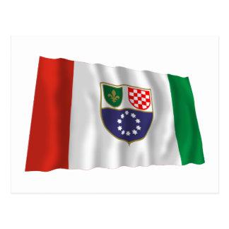 Federation of Bosnia & Herzegovina Waving Flag Postcard
