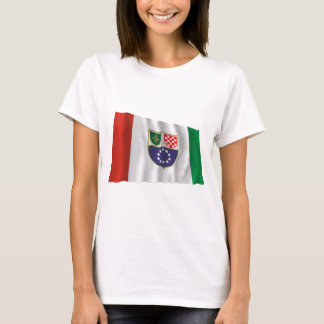 Federation of Bosnia & Herzegovina Waving Flag T-Shirt