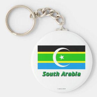 Federation of South Arabia Flag with Name Keychain