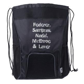 Federer, Sampras, Nadal, McEnroe &  Laver drwbag Drawstring Backpack