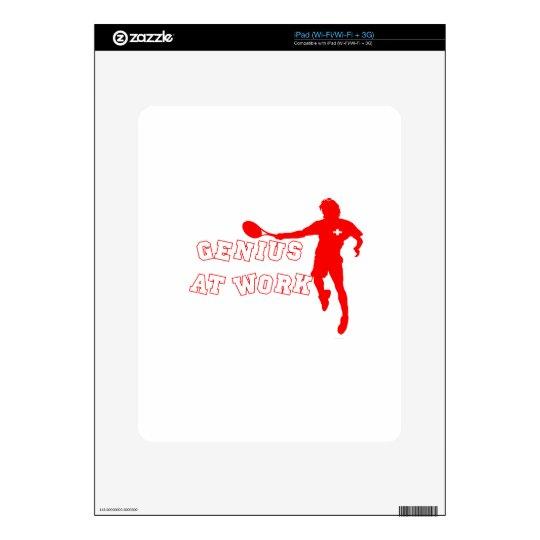 Federer Tshirt Genius at Work Skin For iPad
