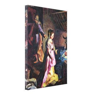 Federico Barocci - nacimiento de Cristo Impresión De Lienzo