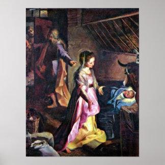 Federico Barocci - nacimiento de Cristo Póster