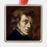 Federico Chopin 1838 Adorno Navideño Cuadrado De Metal