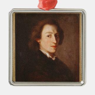 Federico Chopin Adorno Navideño Cuadrado De Metal