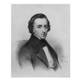 Federico Chopin, después de Ary Scheffer Poster