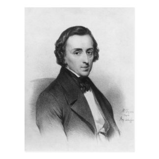 Federico Chopin, después de Ary Scheffer Postal